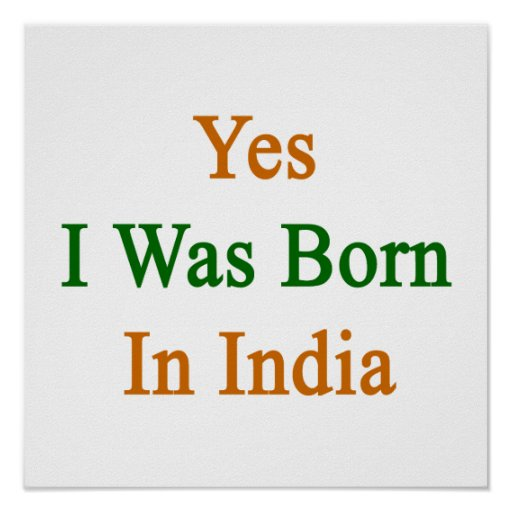Nací sí en la India Póster