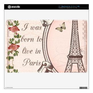 Nací vivir en París MacBook Air 27,9cm Skin