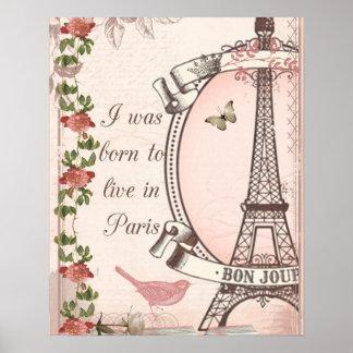Nací vivir en París Poster