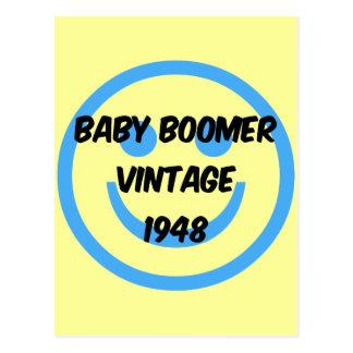 nacido en el baby boom 1948 postal