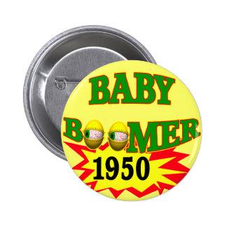Nacido en el baby boom 1950 pin