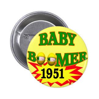 Nacido en el baby boom 1951 pins