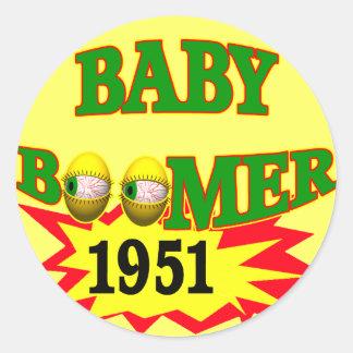 Nacido en el baby boom 1951 pegatinas