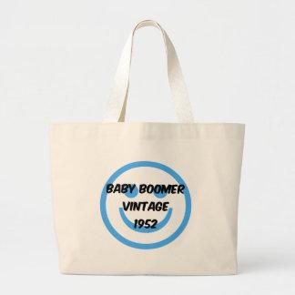 nacido en el baby boom 1952 bolsa tela grande