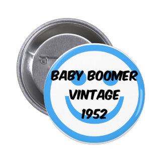 nacido en el baby boom 1952 pins