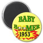 Nacido en el baby boom 1953 imanes de nevera