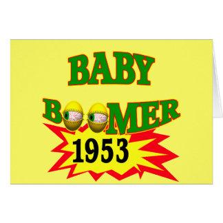 Nacido en el baby boom 1953 tarjeta de felicitación