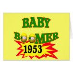 Nacido en el baby boom 1953 tarjetón