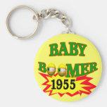 Nacido en el baby boom 1955 llaveros personalizados