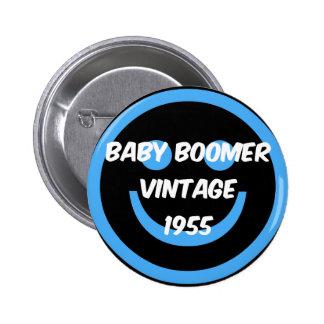 nacido en el baby boom 1955 pin