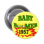 Nacido en el baby boom 1957 pin