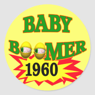 Nacido en el baby boom 1960 pegatina redonda
