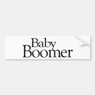 Nacido en el baby boom etiqueta de parachoque