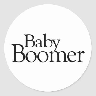 Nacido en el baby boom pegatina redonda