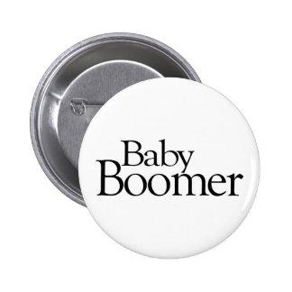 Nacido en el baby boom pin redondo de 2 pulgadas