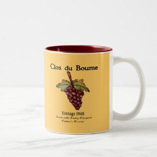 Nacido en el baby boom, vintage 1948 taza dos tonos