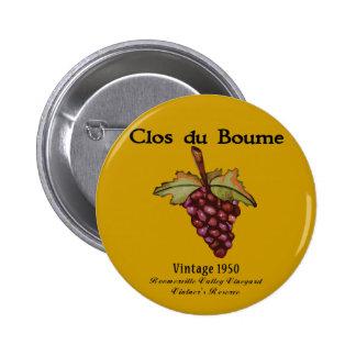 Nacido en el baby boom, vintage 1950 pin redondo 5 cm
