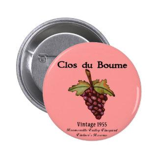 nacido en el baby boom, vintage 1955 pin redondo 5 cm