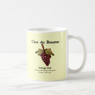 Nacido en el baby boom, vintage 1958 tazas de café