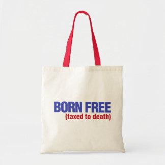 Nacido gravado libremente a la muerte bolsas de mano