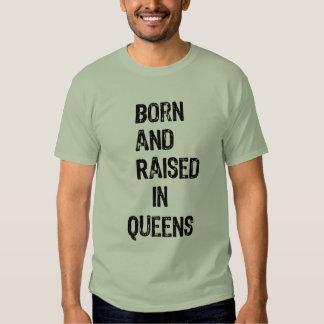 Nacido y aumentado en Queens Playeras