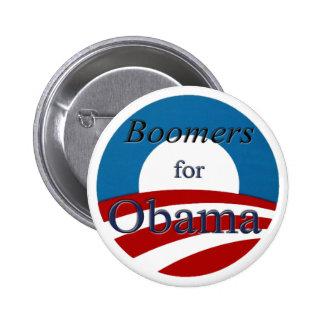 Nacidos en el baby-boom para Obama - botón Pin