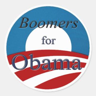 Nacidos en el baby-boom para Obama - pegatina