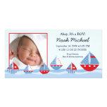Nacimiento Annoucement del bebé de los veleros Tarjeta Personal Con Foto