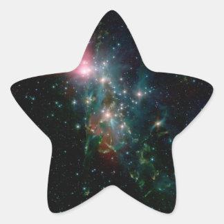 Nacimiento caótico de la estrella de NASAs Pegatina En Forma De Estrella