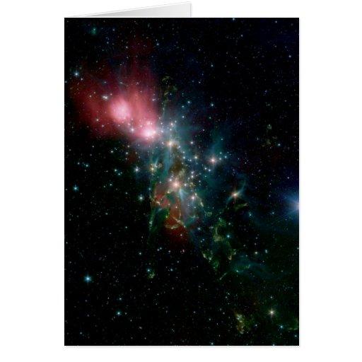 Nacimiento caótico de la estrella de NASAs Tarjeta De Felicitación