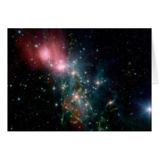Nacimiento caótico de la estrella de NASAs Felicitación