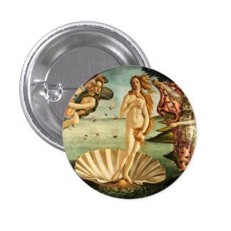 Nacimiento de Botticelli de la pintura del arte Pin Redondo 2,5 Cm