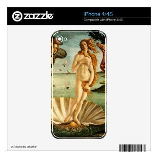 Nacimiento de Botticelli de la pintura del arte Calcomanía Para iPhone 4S