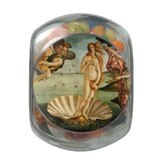 Nacimiento de Botticelli de la pintura del arte Frascos Cristal
