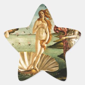 Nacimiento de Botticelli de la pintura del arte Pegatina En Forma De Estrella