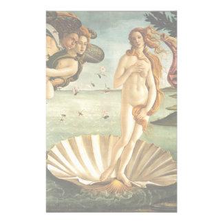 Nacimiento de Botticelli de la pintura del arte Personalized Stationery