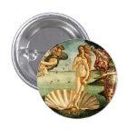 Nacimiento de Botticelli de la pintura del arte Pin Redondo De 1 Pulgada
