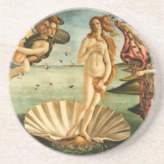 Nacimiento de Botticelli de la pintura del arte Posavasos Para Bebidas