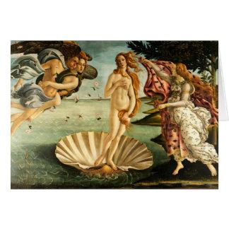 Nacimiento de Botticelli de la pintura del arte Tarjeta De Felicitación