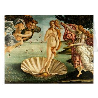 Nacimiento de Botticelli de la pintura del arte Tarjeta De Felicitación Grande
