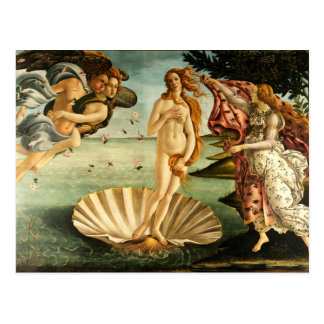 Nacimiento de Botticelli de la pintura del arte Postal