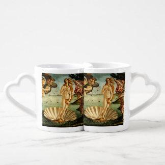 Nacimiento de Botticelli de la pintura del arte Tazas Para Enamorados
