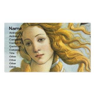 Nacimiento de Botticelli de Venus (detalle) Tarjetas Personales