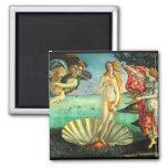 Nacimiento de Botticelli de Venus Imán Cuadrado