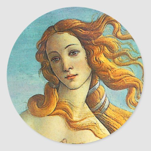 Nacimiento de Botticelli de Venus Pegatina Redonda