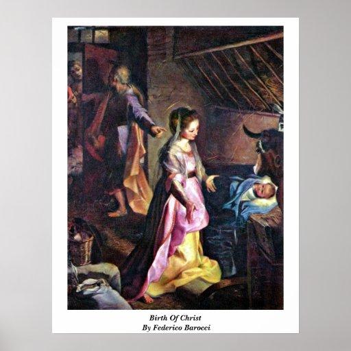 Nacimiento de Cristo de Federico Barocci Póster