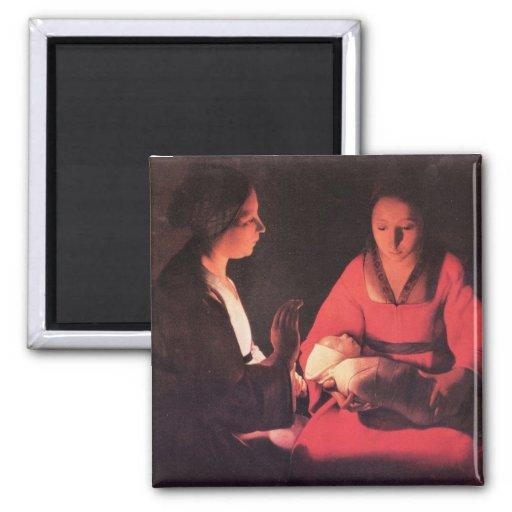Nacimiento de Cristo de Georges de La Tour Imán De Frigorífico
