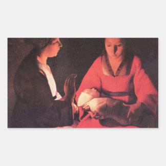 Nacimiento de Cristo de Georges de La Tour Pegatinas