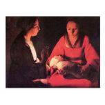 Nacimiento de Cristo de Georges de La Tour Postales