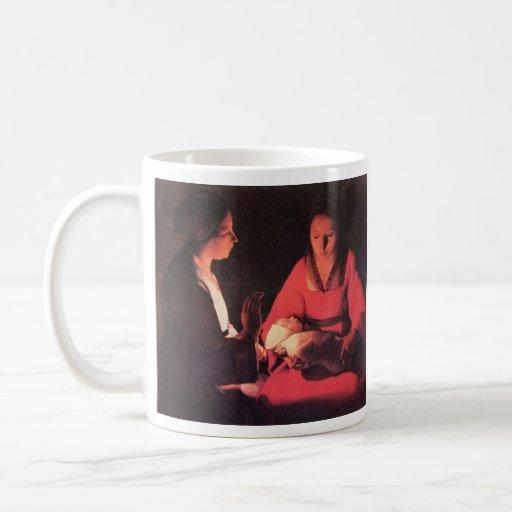 Nacimiento de Cristo de Georges de La Tour Taza De Café
